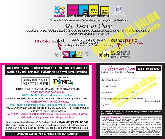 Festa del Client – Facsímil Invitació