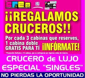 REGALAMOS CRUCEROS – ESPECIAL SINGLES