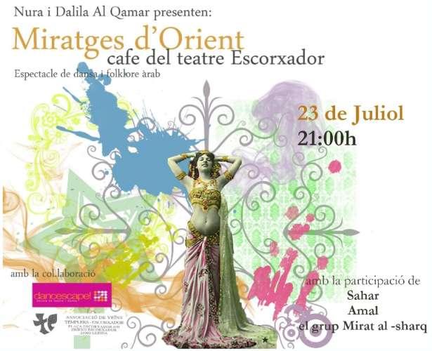 Espectacle de Dansa oriental i folklore egipci al cafe teatre l'escorxador de Lleida