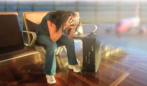 Qué hacer si te quedas tirado en el aeropuerto / Que fer si et quedes tirat a l'aeroport