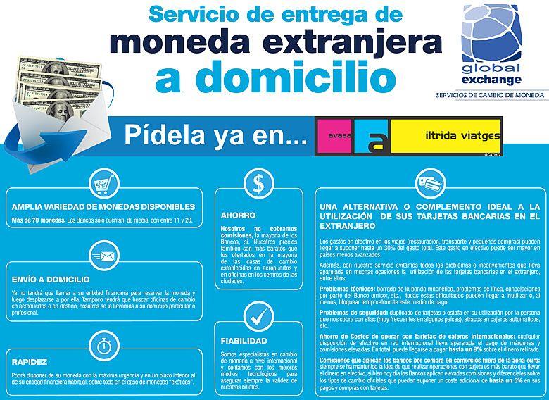 NUEVO Servicio de entrega de moneda extranjera a domicilio