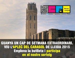 Ganador del sorteo realizado este fin de semana en el «Mercat de Escapades» en Barcelona del Fin de Semana Extraordinario vive la «APLEC DEL CARAGOL» de Lleida 2015