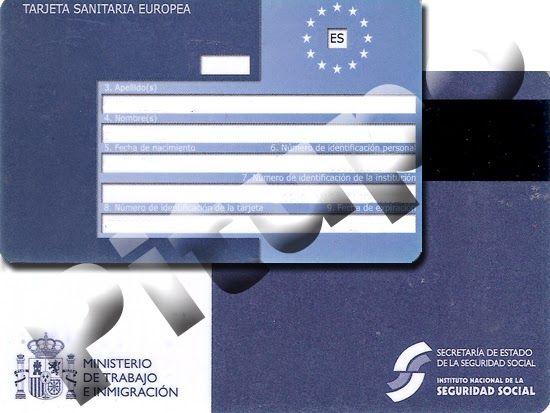 Informacion Oficial Tarjeta Sanitaria Europea Viajeros Online